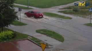 Wakacyjna ulewa w Łomży
