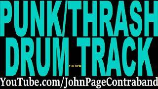 Punk Rock Thrash Metal Drum Track 150 bpm