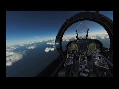 PIMAX 8k DCS World Steam Edition, Settings on Free flight