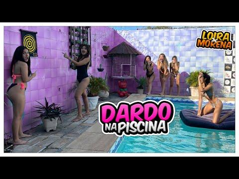 DESAFIO DO DARDO NA PISCINA COM ELAS ... - YouTube