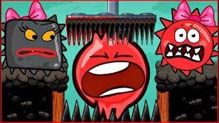НОВЫЙ ИГРОК - ЗОМБИ как КВАДРАТ ! в игре красный шарик для детей про New Red Ball 4 от Спуди !