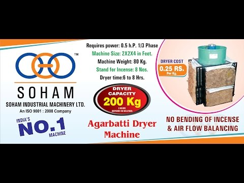 Automatic Drying Machine For Agarbatti