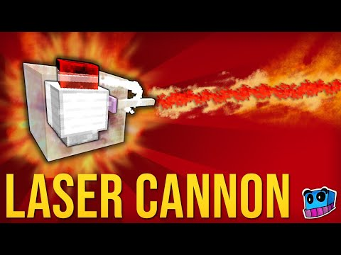 Laser Cannons in one command! Minecraft Project