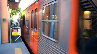 preview picture of video 'H.Σ.Α.Π. - I.S.A.P. metro line 1EMU arrives from the turning track at...'