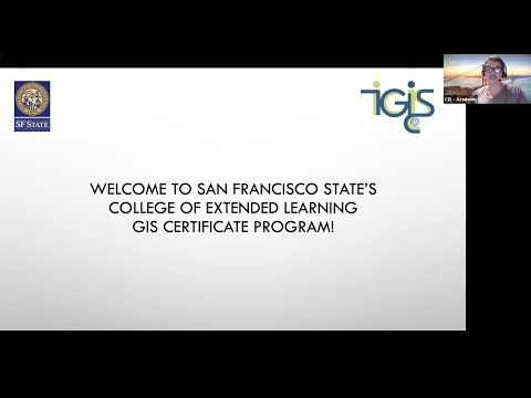 SF State GIS Certificate - Online Information Session - January 2021
