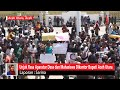 Unjuk Rasa Aparatur Desa dan Mahasiswa Dikantor Bupati Aceh Utara Nyaris Ricuh