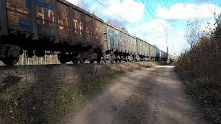 150 вагонов грузового поезда 400 км.ч