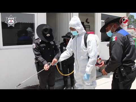CONTINUARÁ SANITIZACIÓN DE INSTALACIONES DE SEGURIDAD CIUDADANA
