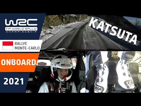 WRC 2021 開幕戦のラリーモンテカルロ ToyotaGazooRacingの勝田選手の走りがみられるオンボード映像