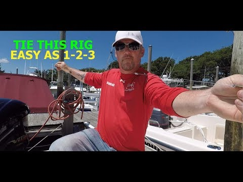 HOW TO RIG A LIVE BAIT FOR STRIPED BASS - EASY RIG FOR BEGINNERS !!