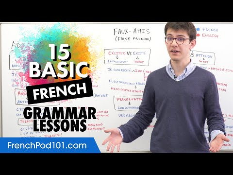 French Basics: 15 Grammar Lessons to Master Early On