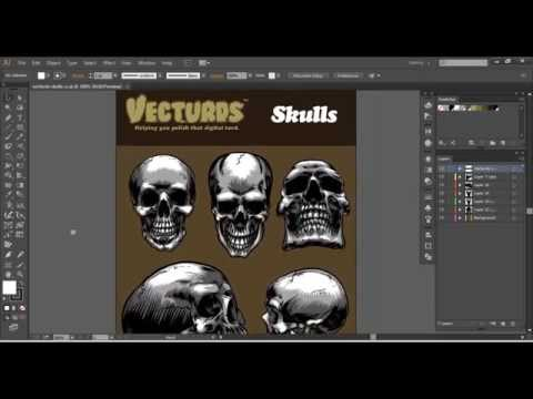 Vecturds™ - Skulls (Pack 1) [ Illustrator CS4-CC ]