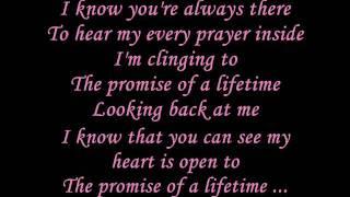 Kutless - Promise of a lifetime Lyrics