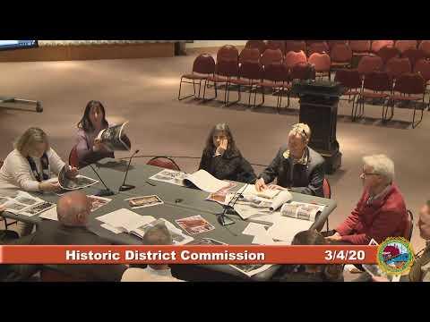 Historic District Commission 3.4.2020