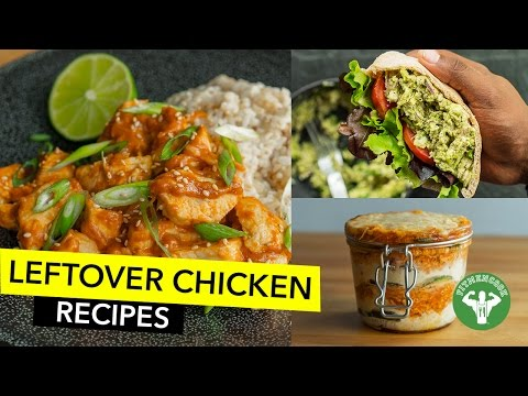 Video 4 Healthy Leftover Chicken Recipes / 4 Recetas para Usar Pollo Seco