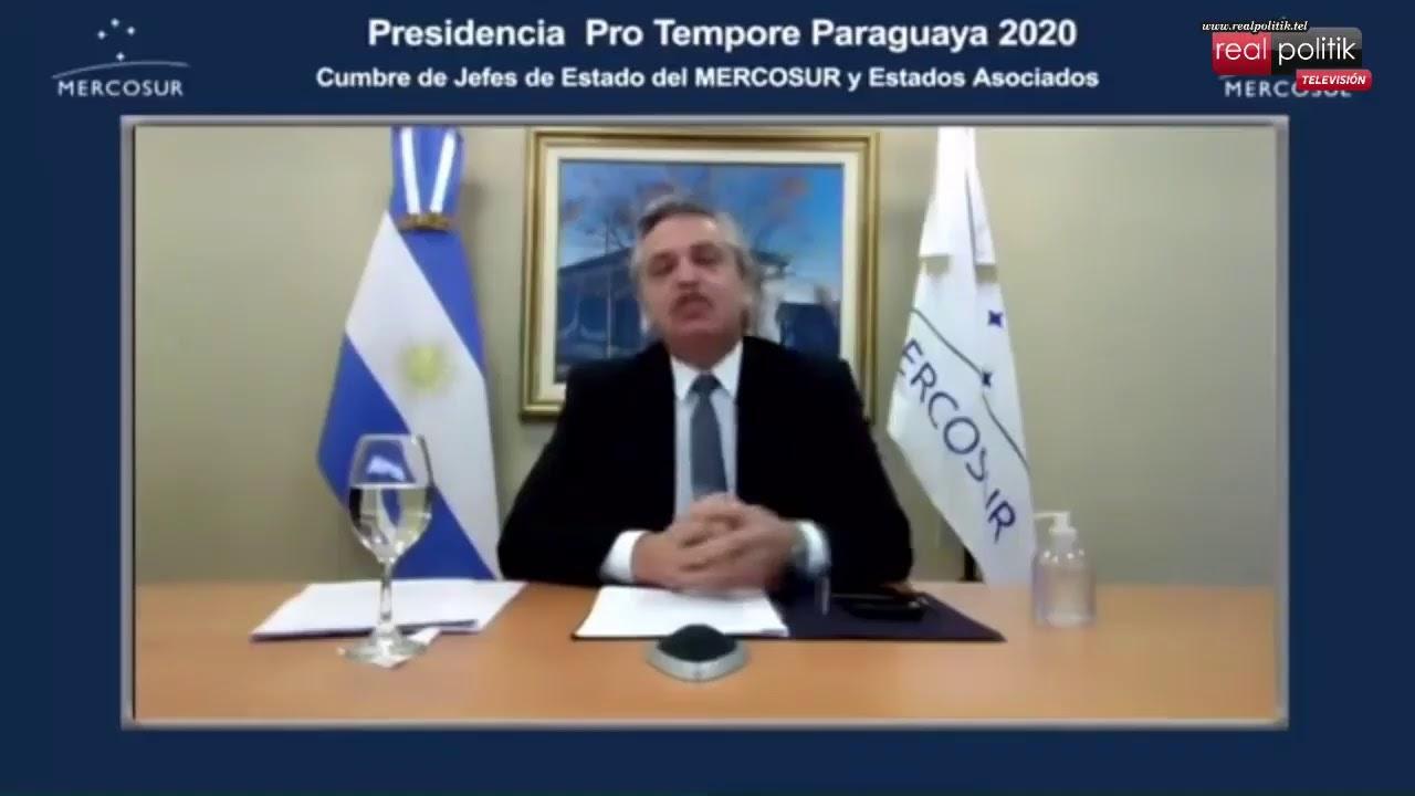 56° Cumbre de Jefes de Estado del Mercosur: Intervención del presidente Alberto Fernández