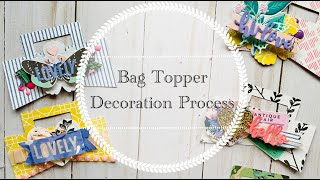 Craft With Me | Bag Topper Decoration Process | Handmade Embellishments