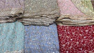 Chiffon Dresses   Net Fabrics Handwork Cutdana   Party Wears