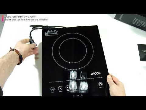 Aicok Placa de Inducción Portátil 2000W Temporizador Control Táctil | UnBoxing Review en Español
