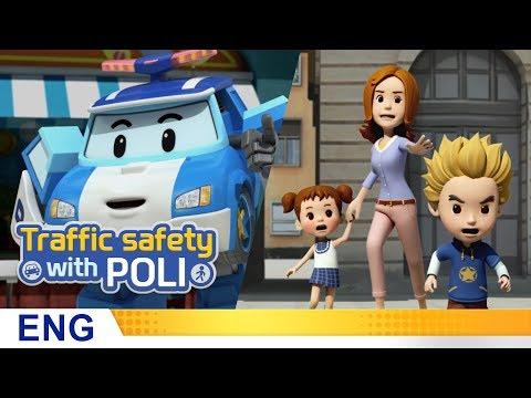Trafficsafety with Poli | #01.Jaywalking is dangerous!