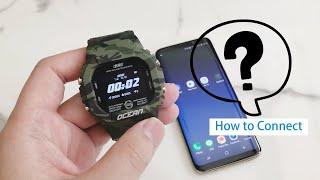 How to connect Lokmat Ocean Smart watch 洛克馬 Ocean 手錶連接手機