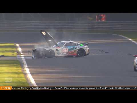 24H GT Series & TCE Series 2018. 12h Spa-Francorchamps. Crash Aftermath