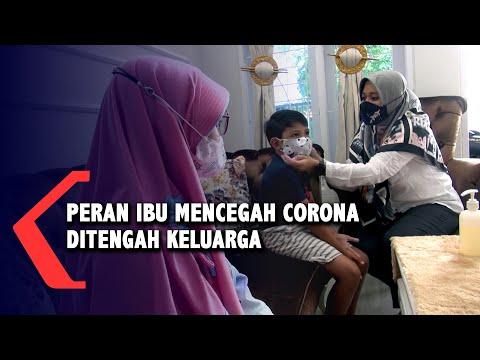 peran ibu mencegah virus korona ditengah keluarganya dan lingkungan kantor