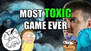 Dota 2: Arteezy - Most Toxic Game Ever | Flamed by Team & Opponent