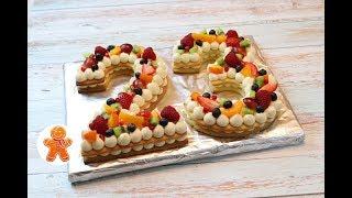Торт на 23 Февраля ✧ Торт Цифра Буква ✧ Cream Tart