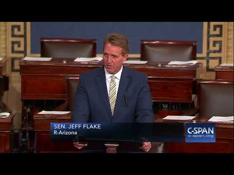 Sen. Jeff Flake condemns President Trump's attacks on media -- FULL SPEECH (C-SPAN)