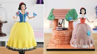 DISNEY PRINCESS: SNOW WHITE DOLL CAKE 🍎Tan Dulce