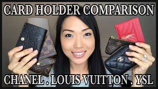 COMPARISON | CARD HOLDERS + SLGS | Chanel , Louis Vuitton , Saint Laurent | GINALVOE