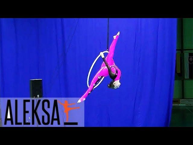Танец на воздушном кольце, воздушная гимнастика, акробатика на кольце. Соня Корниенко, ALEKSA Studio