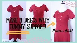 Making an Empire Waist Dress with Hidden Pockets Tummy Support  to Hide Belly | Sewing Hacks, Crafts