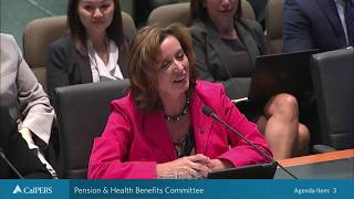 Pension & Health Benefits Committee on September 25, 2018