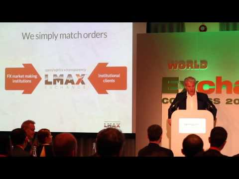 LMAX Exchange CEO speaking at the World Exchange Congress