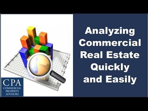 Analyzing Commercial Real Estate Quickly and Easily