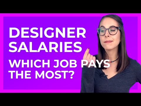 Salaries for Designers by Job Type: Which design job pays the best?