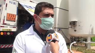 Em meio a pandemia, a preocupação com o fornecimento de oxigênio no hospital de campanha