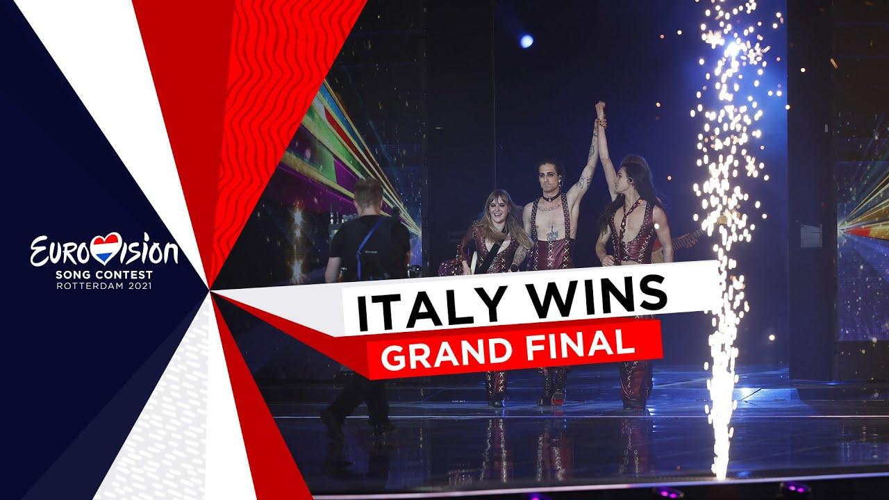 El moment de la victòria d'Itàlia a Eurovisió 2021