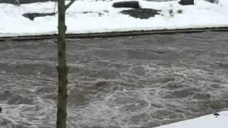 preview picture of video 'Zschopau führt Hochwasser'