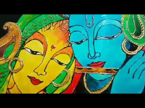 Glass painting of RADHA KRISHNA