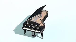 C Bechstein Royal Model Рояль Концертный 3Ds Max Tutorial