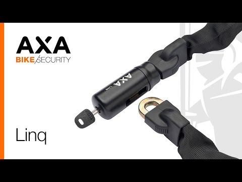AXA Kettenschloss Fahrrad Linq 100 Länge 100 cm Stärke 9,5 mm schwarz