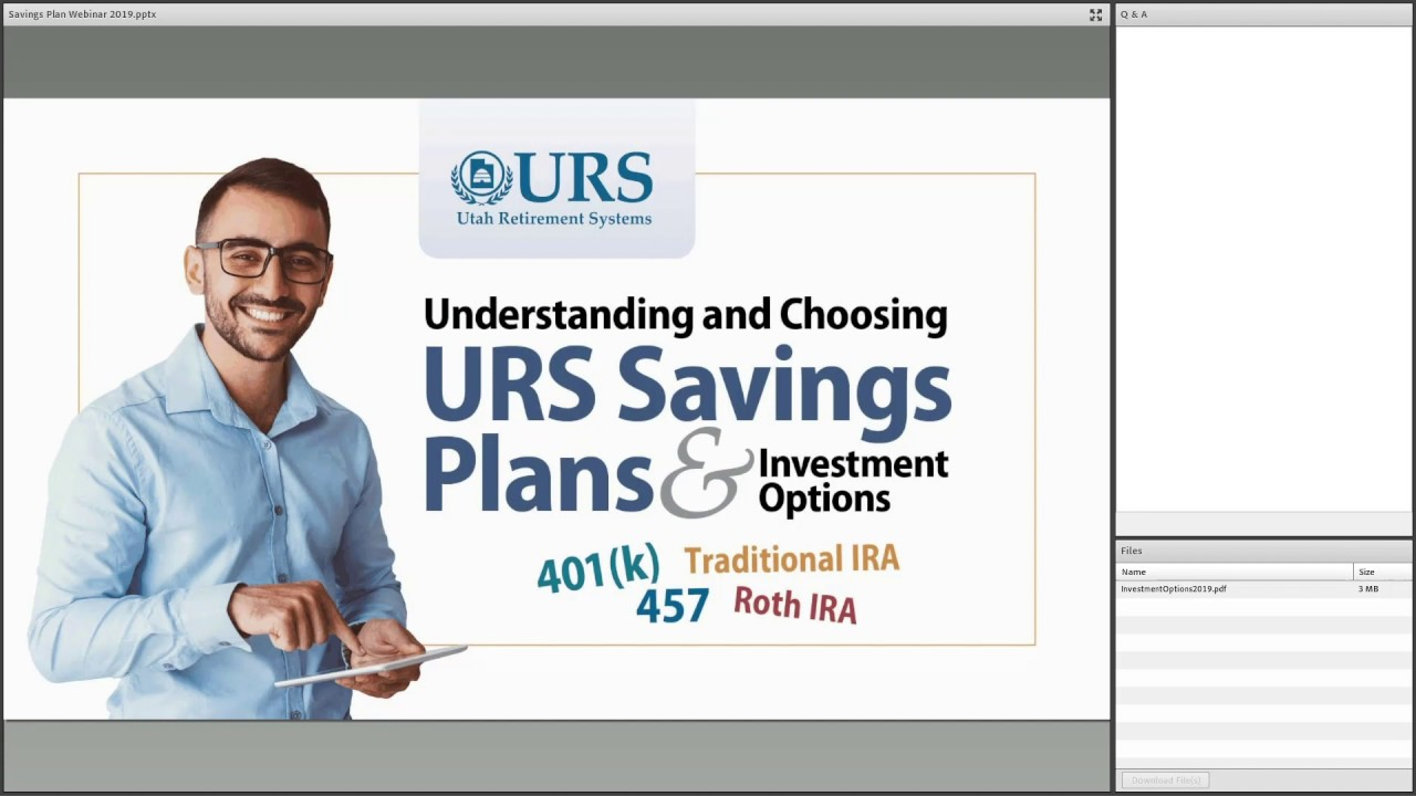 Understanding and Choosing the URS Savings Plans and Investment Options October 15 2019