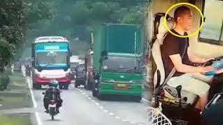 Detik-detik Sopir Tiba-tiba Pingsan saat Mengemudi, 30 Penumpang Bus Nyaris Celaka
