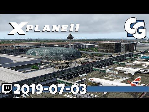 X-Plane 11 - Changi International - KL to SG (WMKK - WSSS) - Pilot2ATC - Zibo 737 - VOD - 2019-07-03