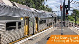 Sydney Trains Vlog 1800: V Set Derailment + Backlog of Trains