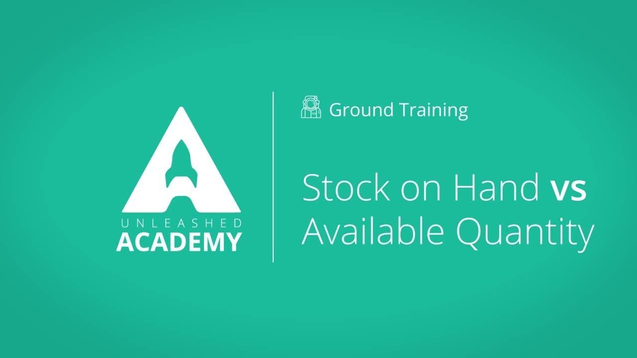 Stock on Hand vs Available Quantity YouTube thumbnail image