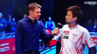 Naoyuki Oi interview after losing to Albin Ouschan